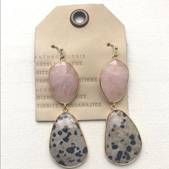 Anthropologie Stone Drop Earrings